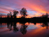 ...zachód słońca był piękny, niestety chwilę wcześniej z wahadłówki spadła mi duża ryba (nawet jej n