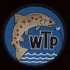 Naszywka klubu WTP (Warszawskie Towarzystwo Pstrągowe)